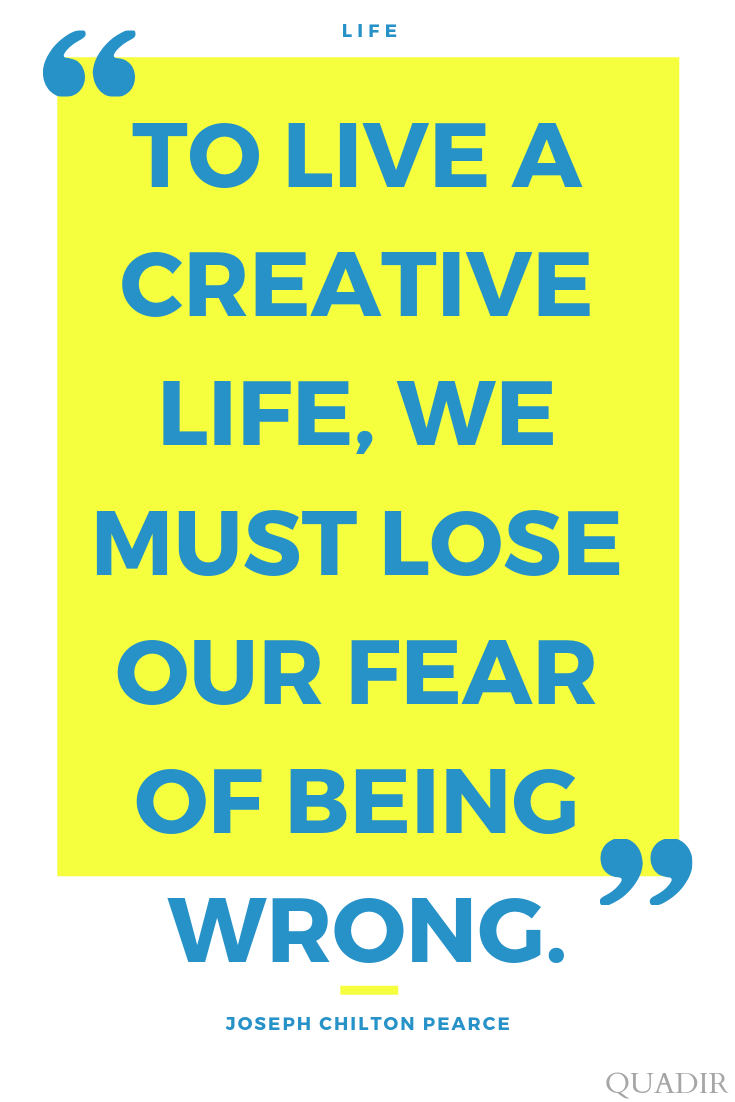 To Live A Creative Life, We…