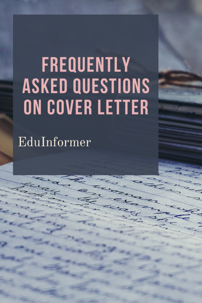 Frequently Asked Questions On Cover Letter
