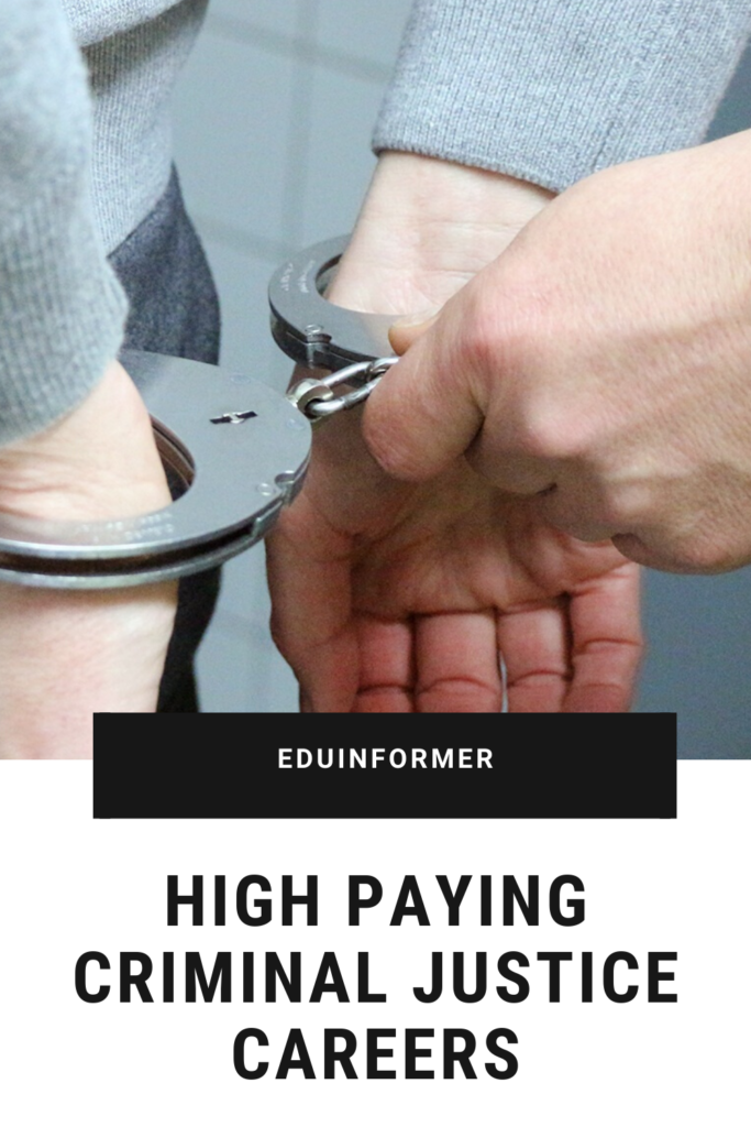 High Paying Criminal Justice Careers