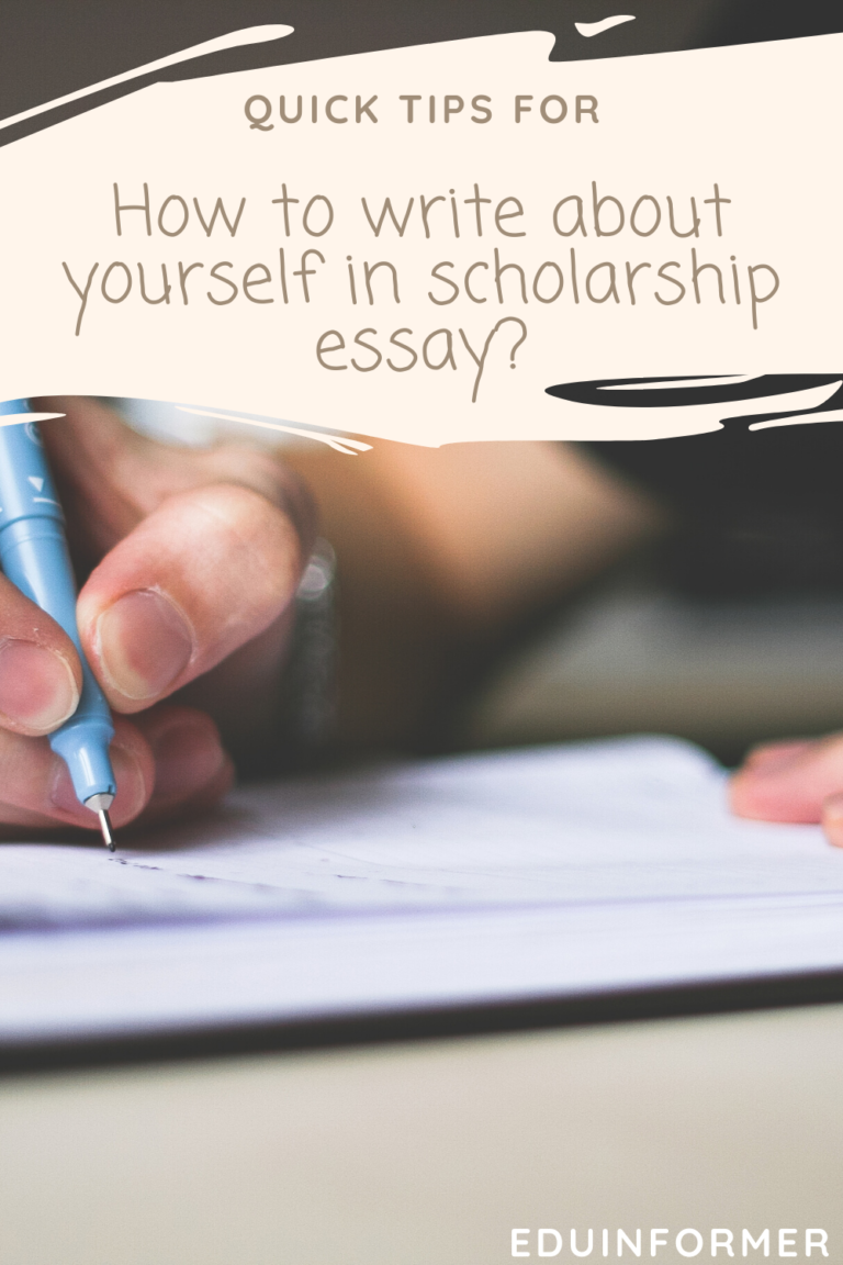 How to write about yourself in scholarship essay
