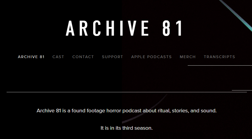 Archive 81, a horror the best fictional podcasts