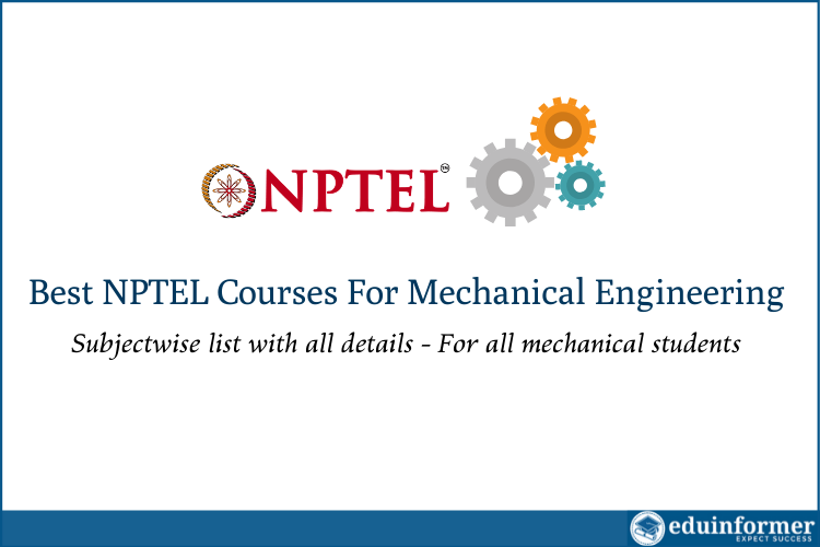 Best NPTEL Courses For Mechanical Engineering