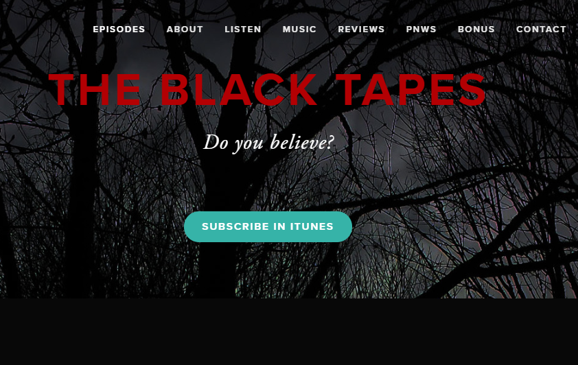 best fictional podcasts journey with black tapes