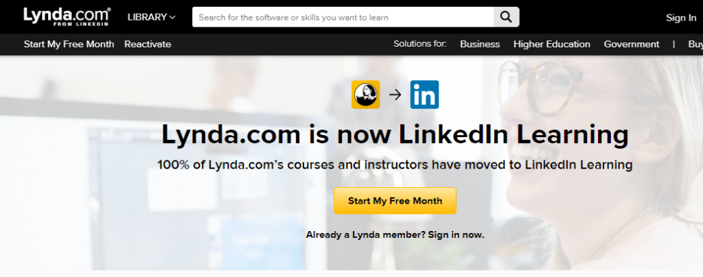 Lynda is now LinkedIn learning