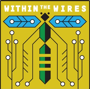 Within the wires