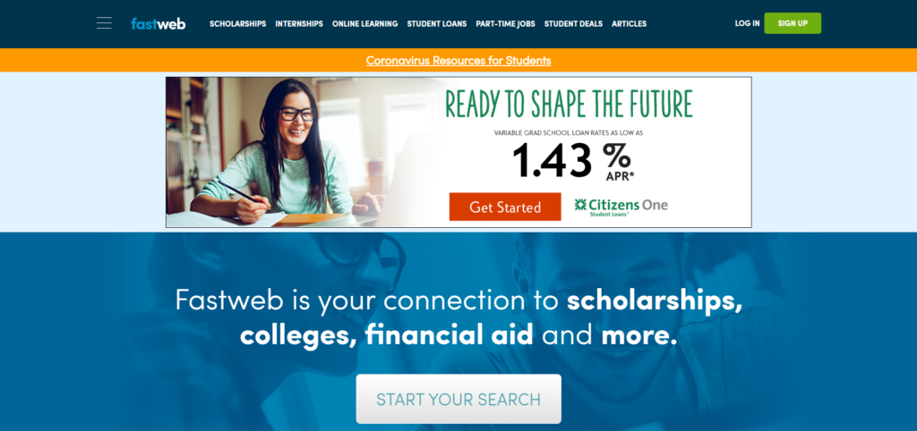 Fastweb one of the best platforms for scholarship for students