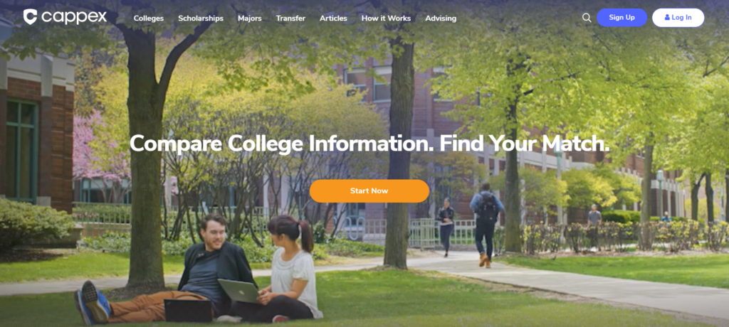 Cappex is a college scholarships finder