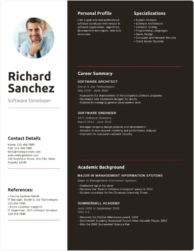 Canva Resume Maker-  Sample Resume Templates