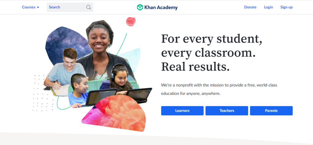 Khan academy offers numerous courses that cover topics like Fibonacci functions, Python programming, and binary numbers.