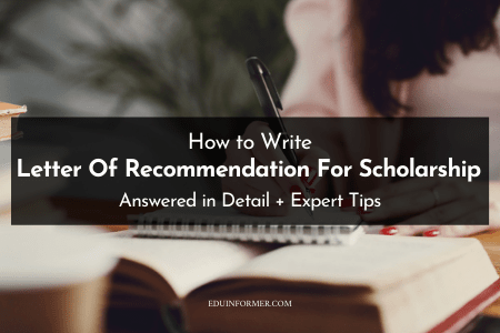 An Ultimate Guide to Write Letter Of Recommendation For Scholarship